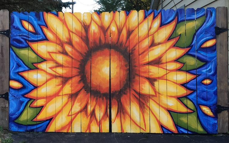 Sunflower Mural Delaware Oh 2016 Mural Photo Album By