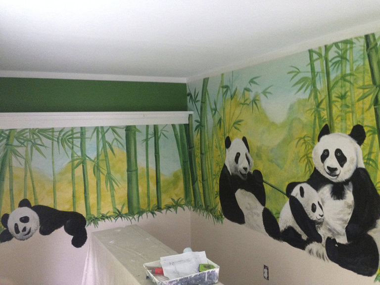 Pandas & Bamboo, The Letke Residence, Towson, MD 2015