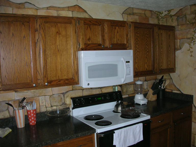 Rustic Stone Kitchen, Lande Residence, Odenten, MD 2008