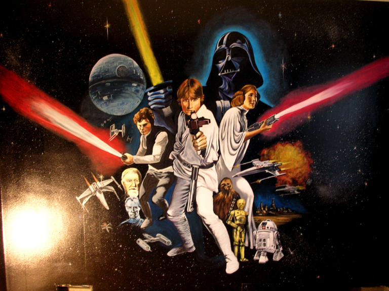 Classic Star Wars Poster, Cuddy Residence, Towson, MD 2009