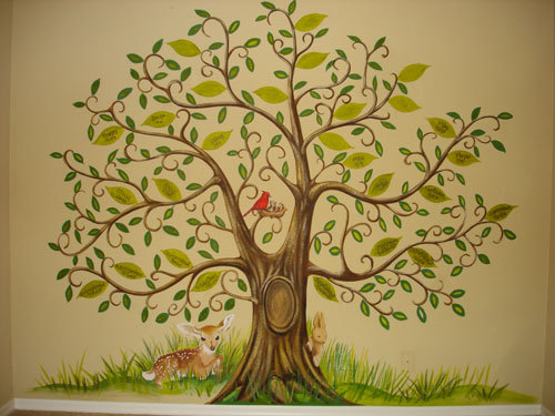 Wall Decoration Tree Painting: Mural Photo Album By Skywoods