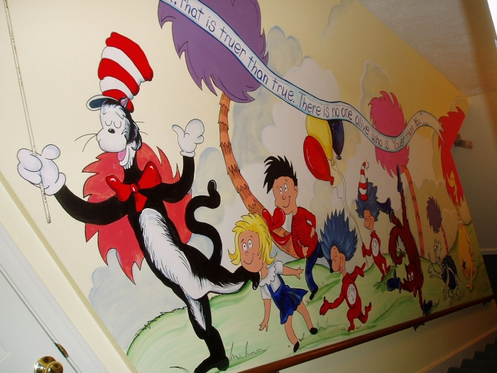 Dr. Seuss Mural In Stairwell Part 58