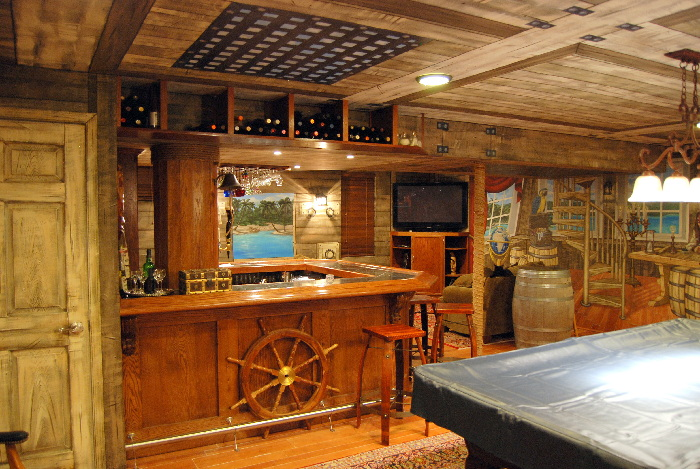 pirate ship themed murals throughout a lower level bar area mural photo album by mural art llc. Black Bedroom Furniture Sets. Home Design Ideas