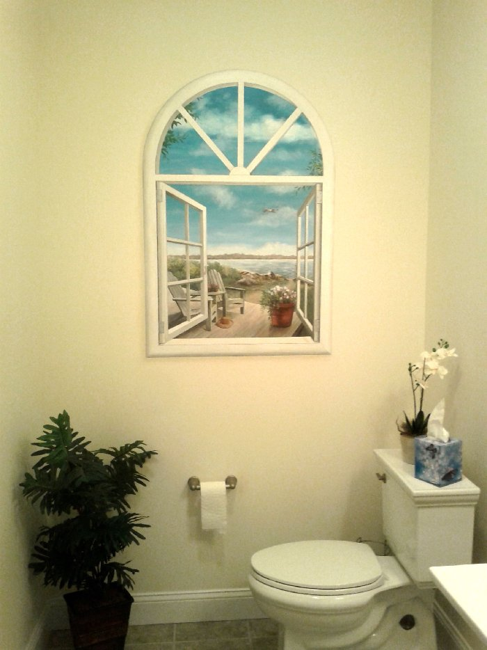 faux window mural mural photo album by annette dostaler