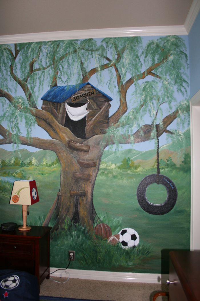 Children murals and decor ideas 4000 mural photo album for Boys wall mural