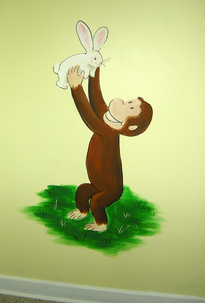 Mural photo album 10845 for Curious george mural