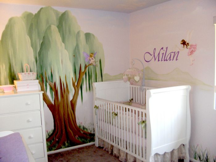 Children s rooms and nurseries mural photo album by for Fairy mural ideas