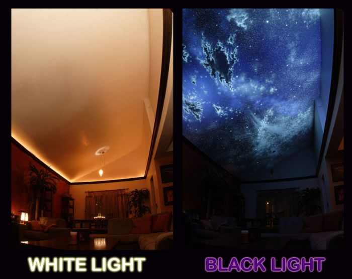 Hidden Night Sky Invisible Black Light Living Room Part 38