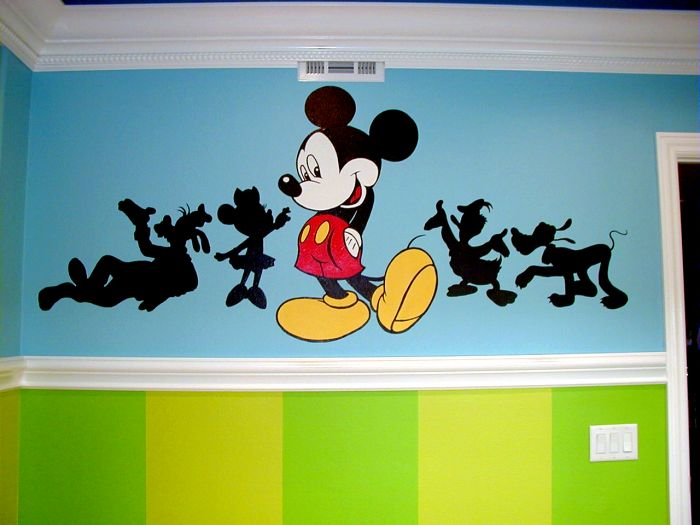 Childrenâ S Rooms And Nurseries Mural Photo Al By Amber Dawn Mural Tv  Background Wall Child Real Wallpaper Bedroom Cartoon Mickey Mouse ...