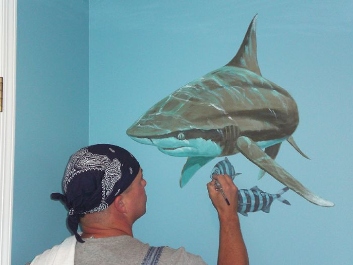 mural photo album 11296 mural photo album by edward luterio caribbean reef shark wall mural