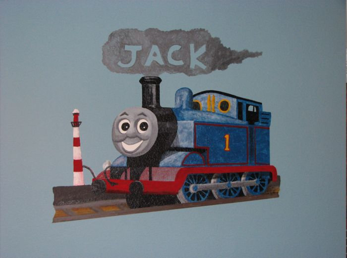 Thomas The Train. Mural Painted On Knockdown Wall Texture. See More  Childrenu0027s Murals On My Website: Www.TonysWallsOfArt.com The Childrenu0027s  Book I Wrote And ...