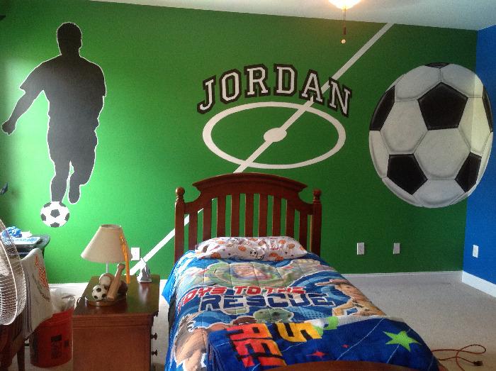 Soccer Murals For Bedrooms   Best 25 Murals Ideas