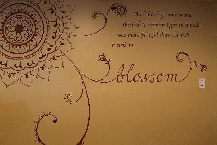 Mandala Painted On Wall With Quote