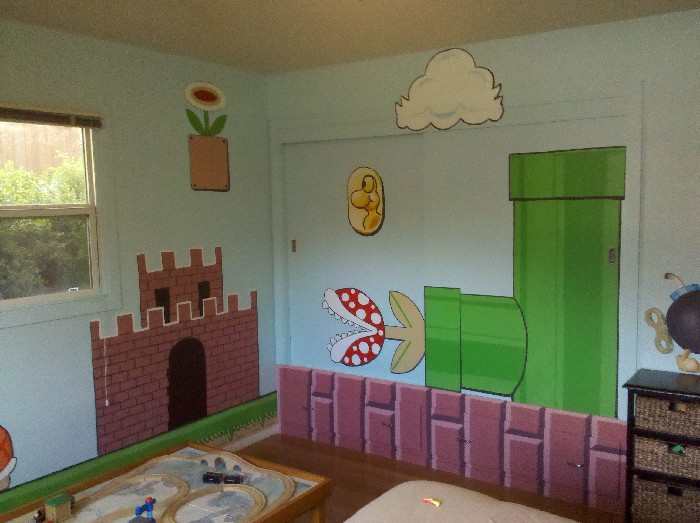 Super Mario Brothers Bedroom - Mural Photo Album By Sheryl ...