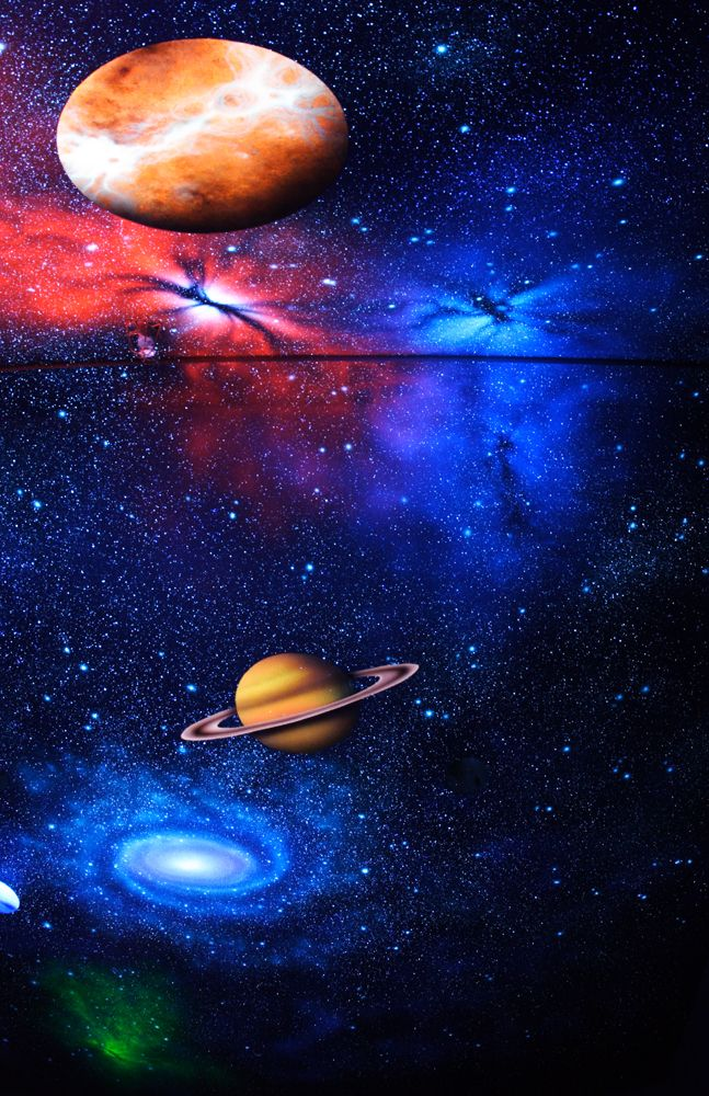 Outer Space Black Light Ceiling Mural Photo Album By
