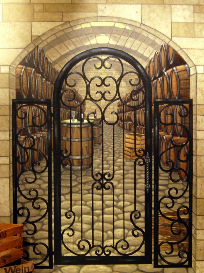 Wine Cellar Trompe L Oeil Mural Mural Photo Album By