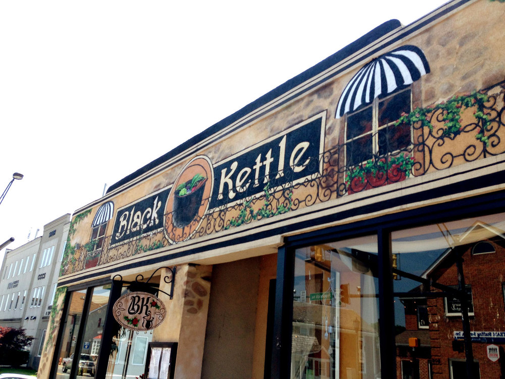 Faux French Cafe Facade Black Kettle Restaurant