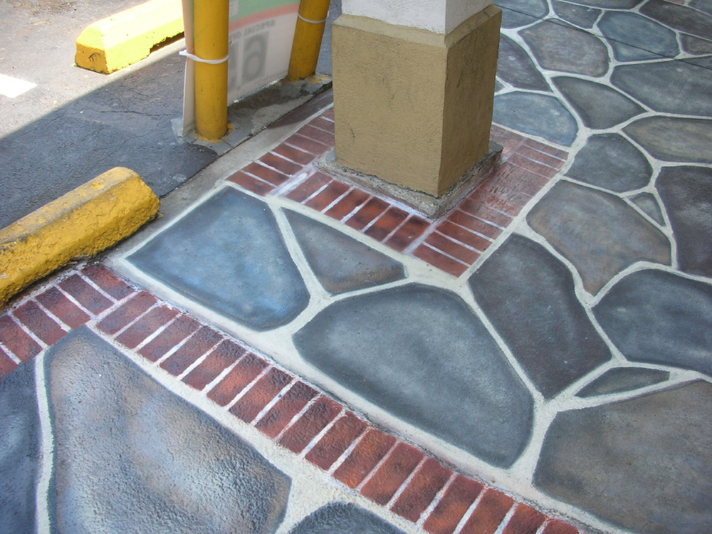 Faux Flagstone Patio, The Windsor Restaurant, Baltimore, MD 2009