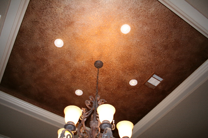 Diamond faux finish mural photo album by norma ruffinelli for Best paint finish for ceilings