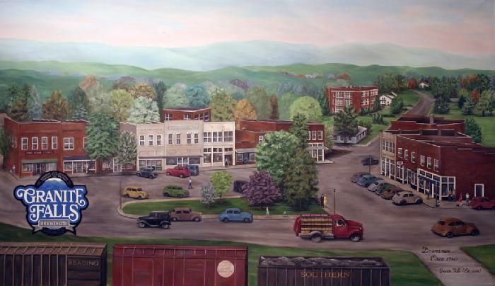 Granite Falls Brewing Company Loe S Brewing Mural