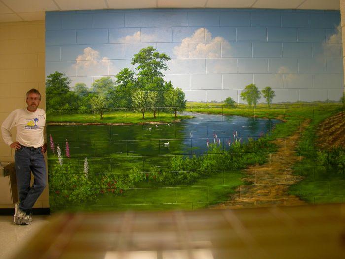 Joe mural wall murals for Mural joe painting